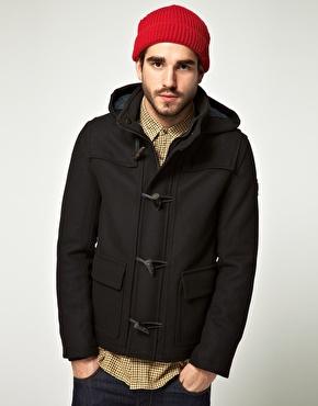 Men's short duffle coats. Shortened models of the duffle coat.